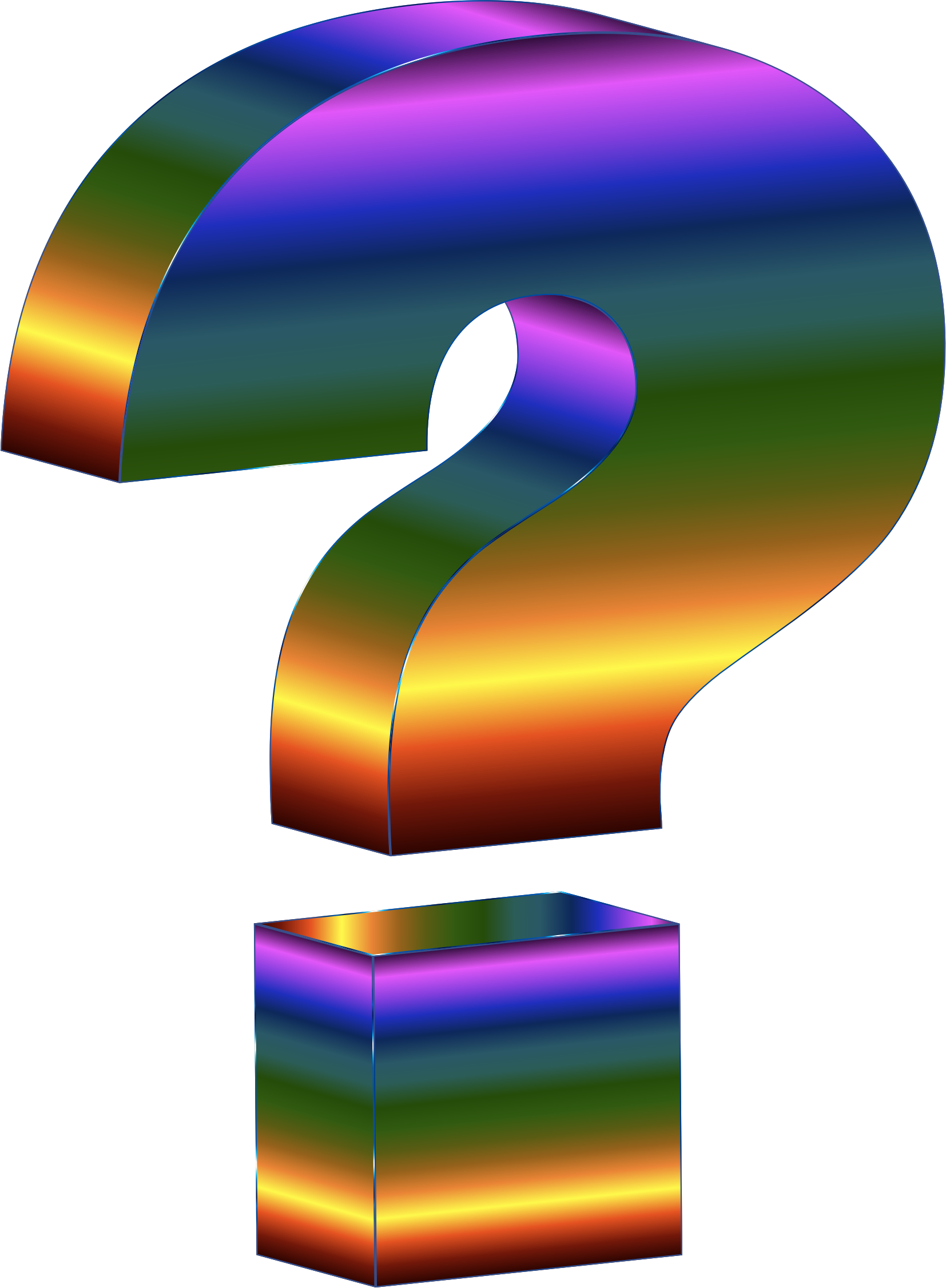 prismatic 3d question mark vector clipart image free stock photo rh goodfreephotos com  free question mark clip art images