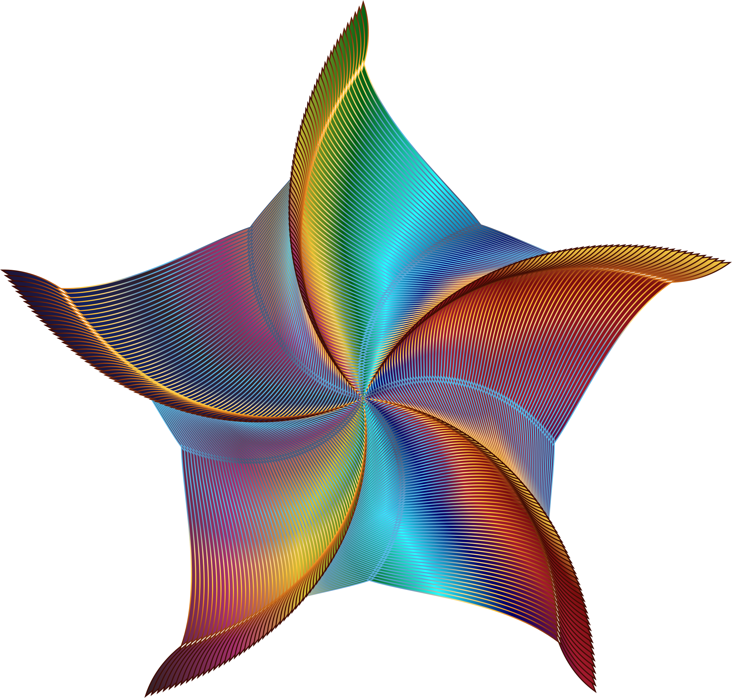 Prismatic Colored Starfish Vector Clipart image - Free ...