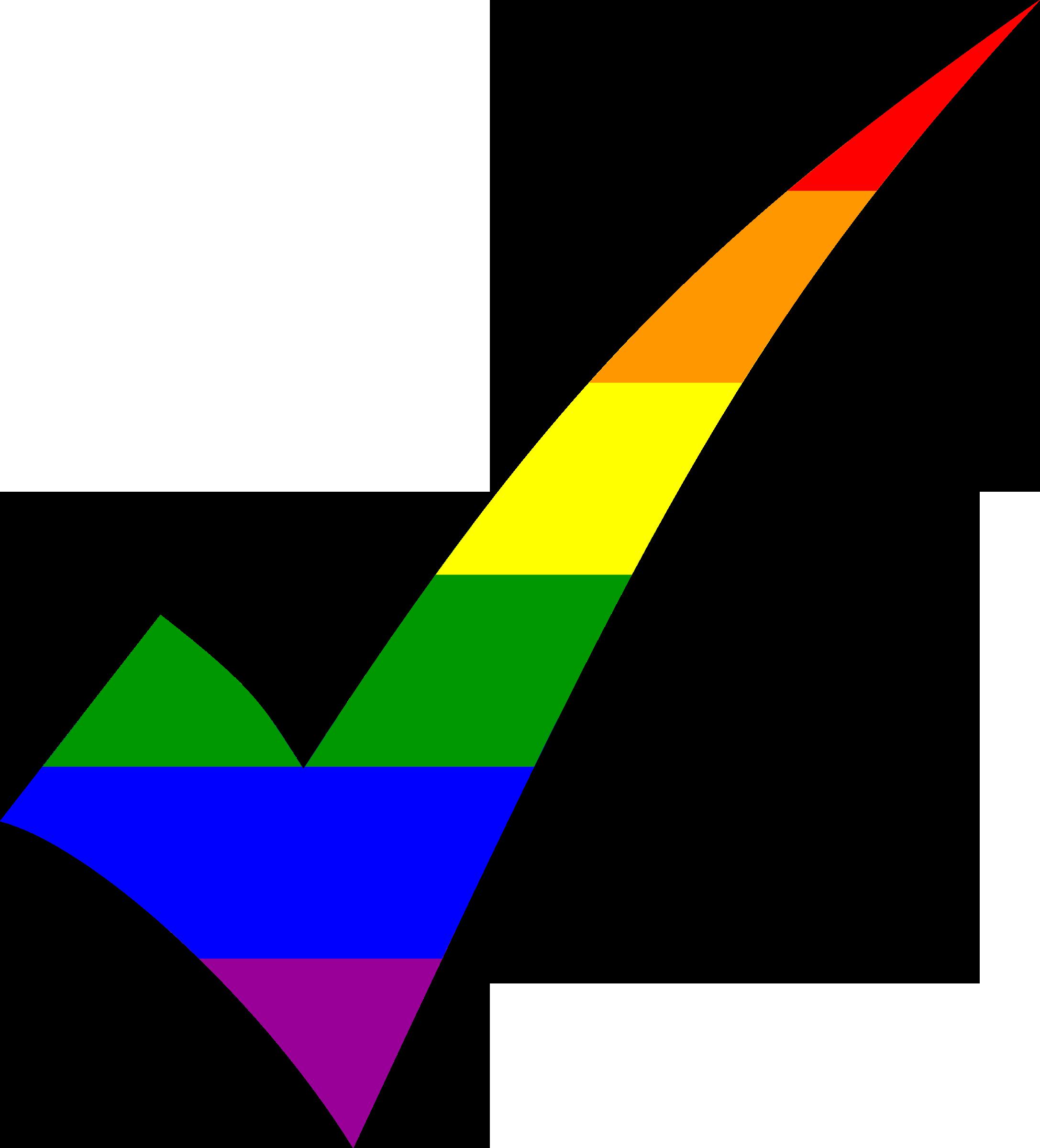 Rainbow Check Vector Clipart Image Free Stock Photo Public Domain Photo Cc0 Images