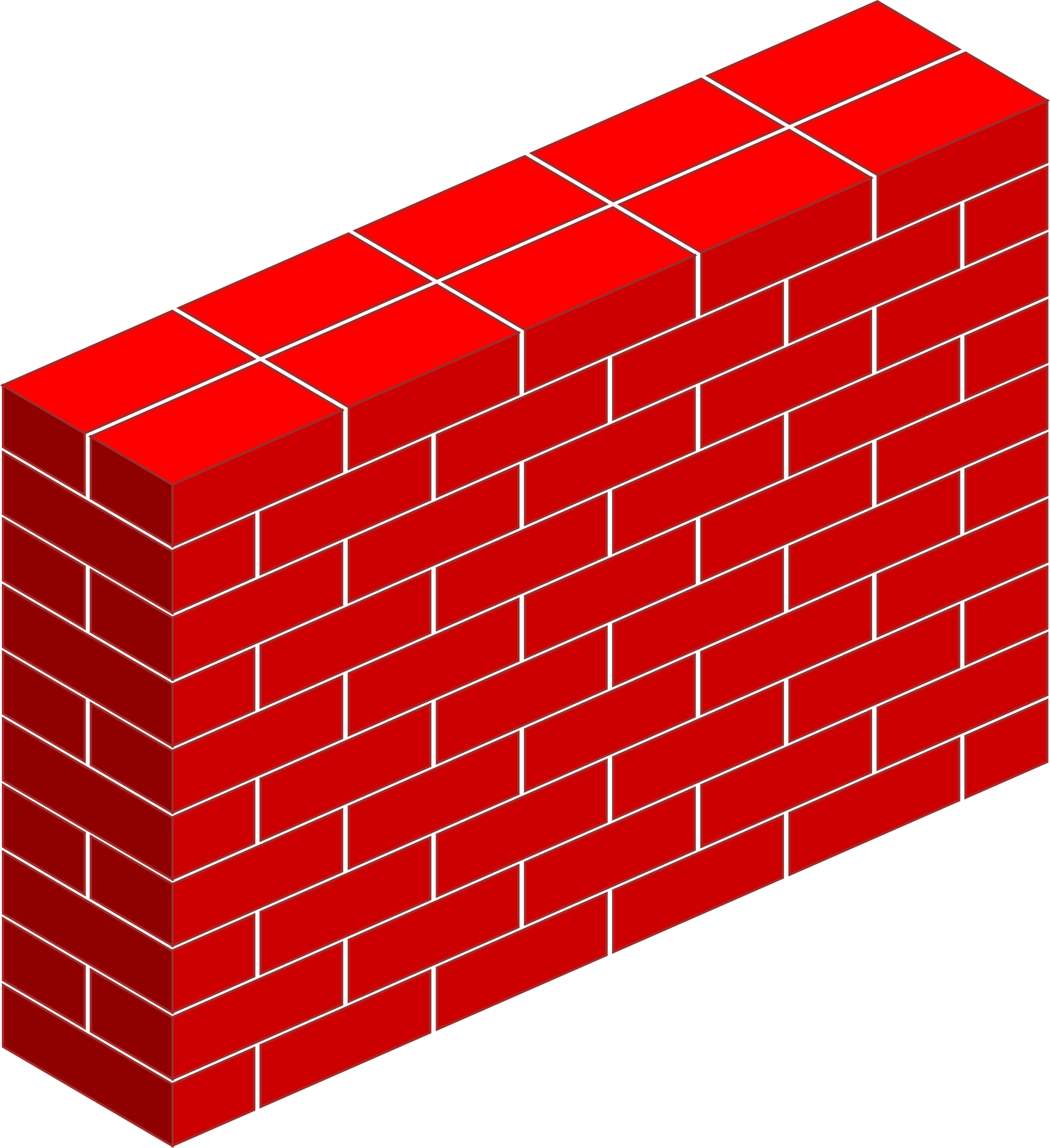 Red Brick Wall Vector Clipart image - Free stock photo
