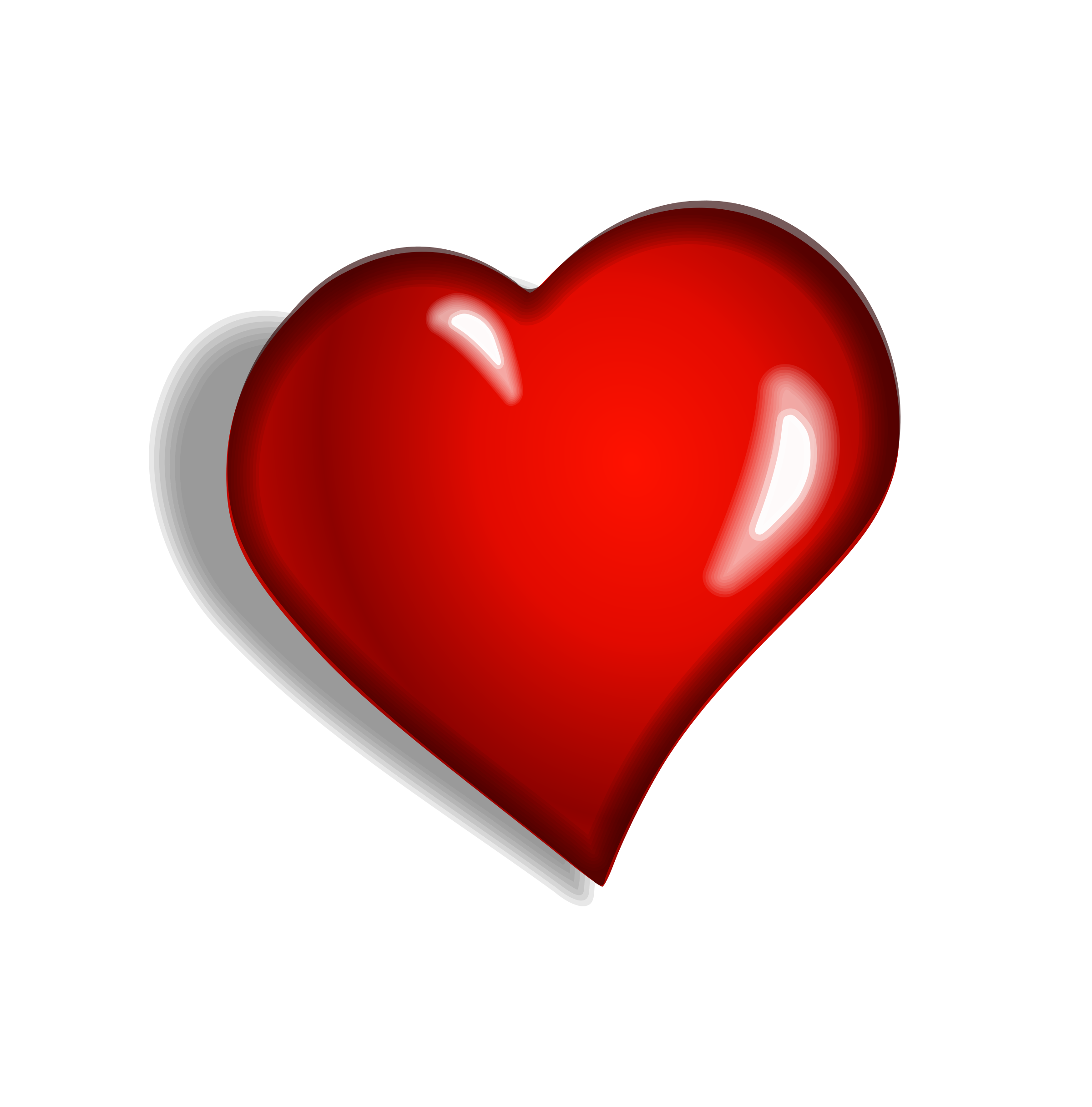 Red Heart Vector Graphics image - Free stock photo ...