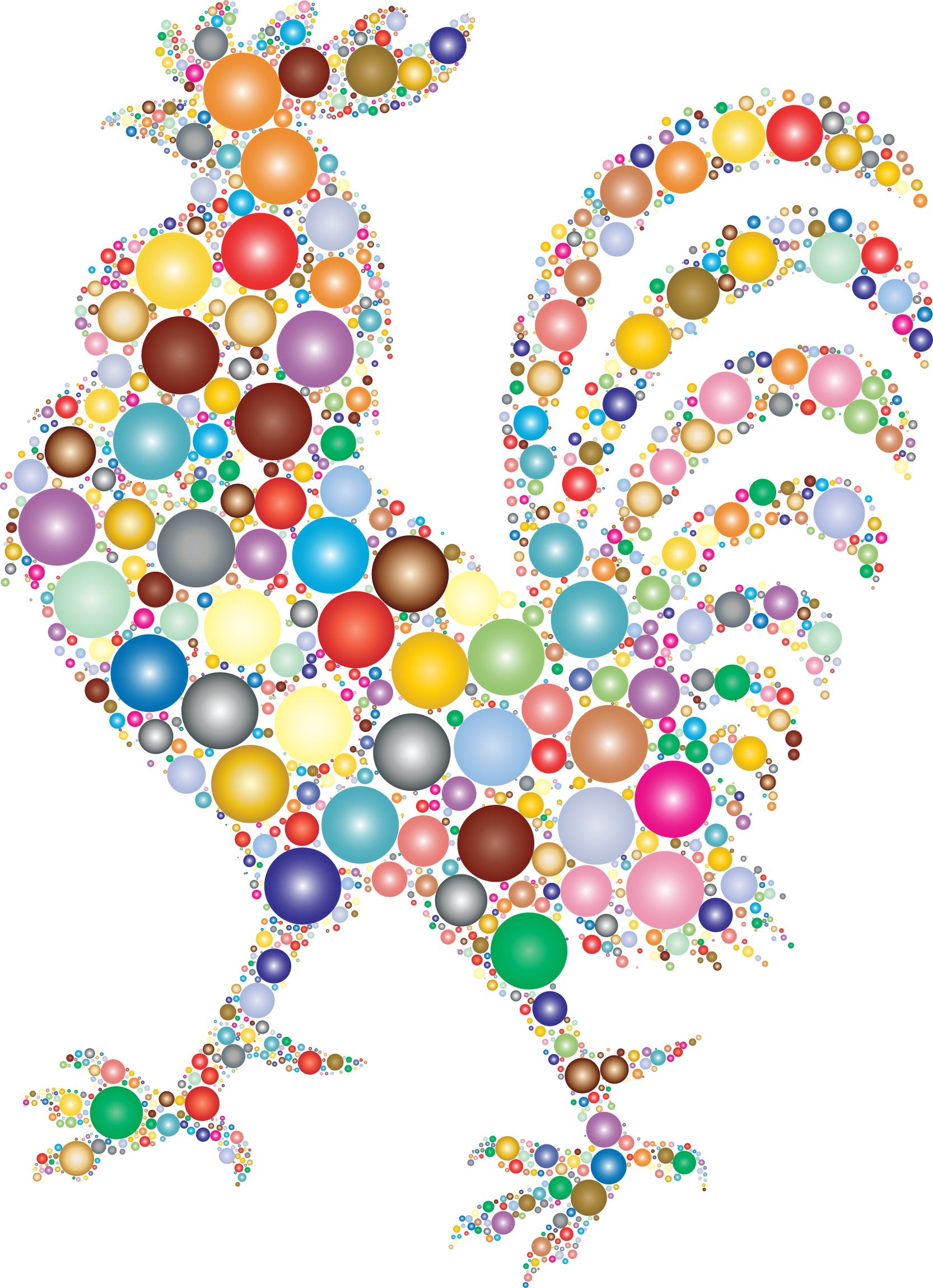 rooster made from colorful orbs vector clipart image rooster vector download rooster vector free download