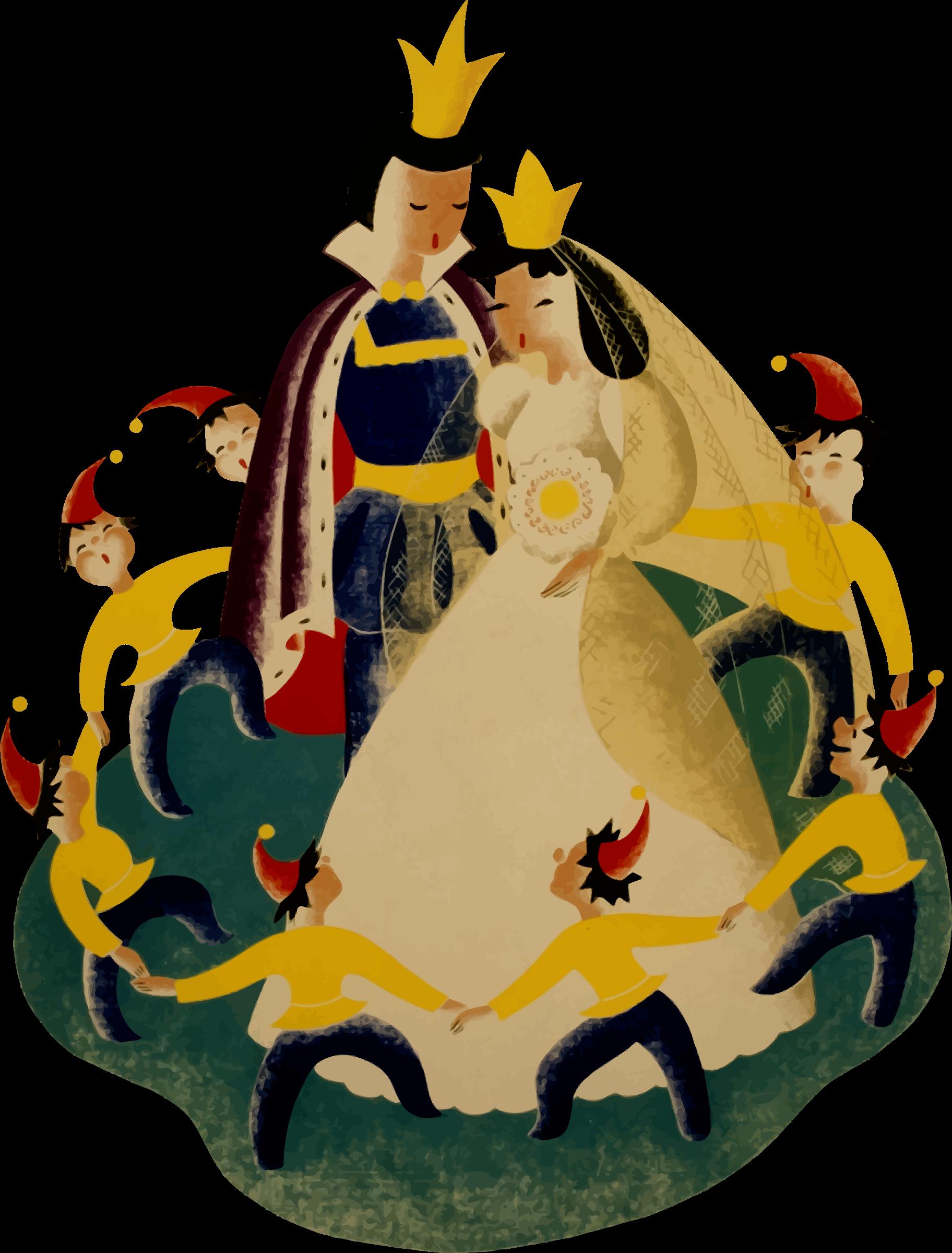 royal wedding vector clipart image free stock photo