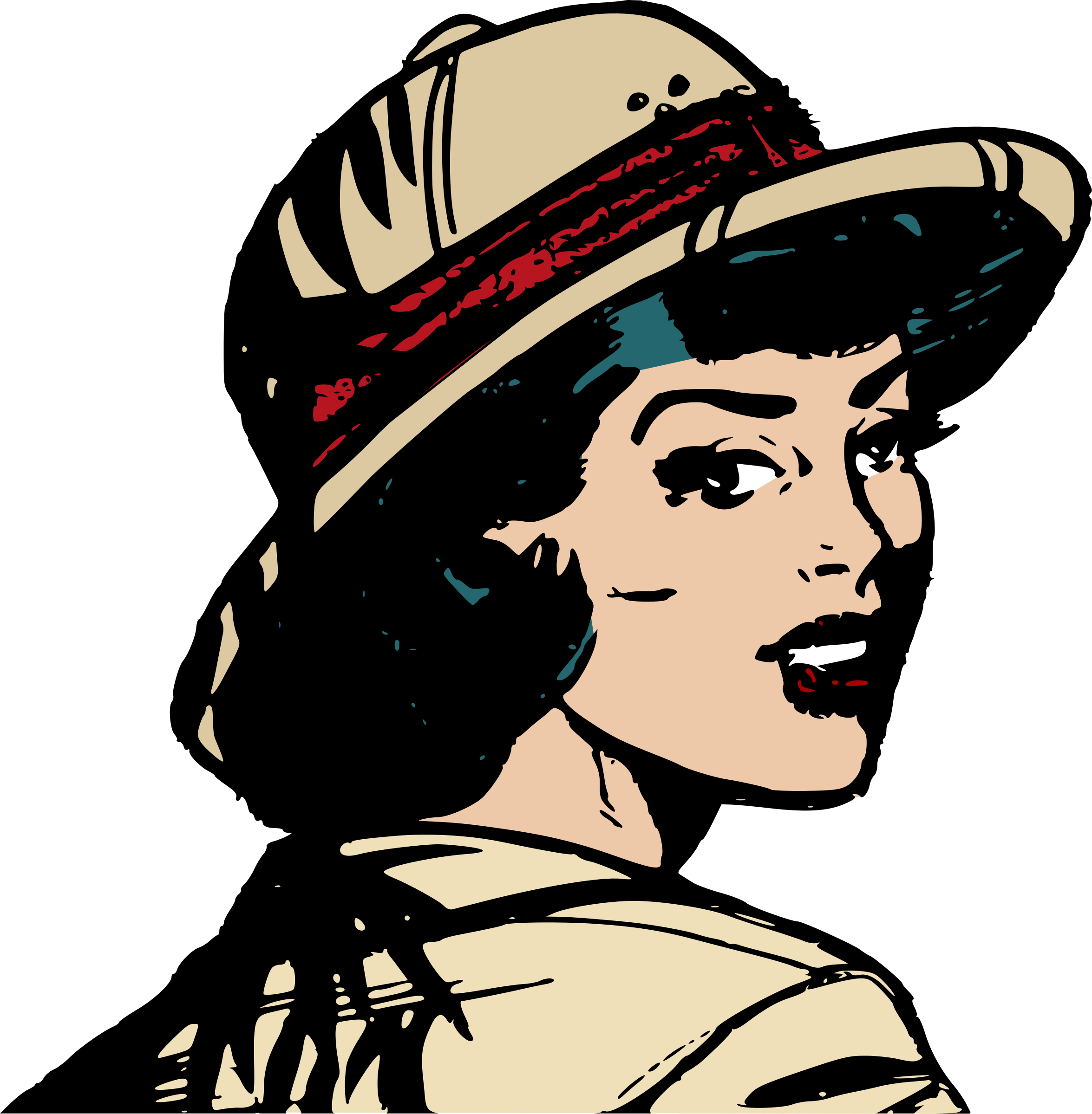 Safari Girl In Outdoors Outfit Vector Clipart Image Free Stock Photo Public Domain Photo Cc0 Images