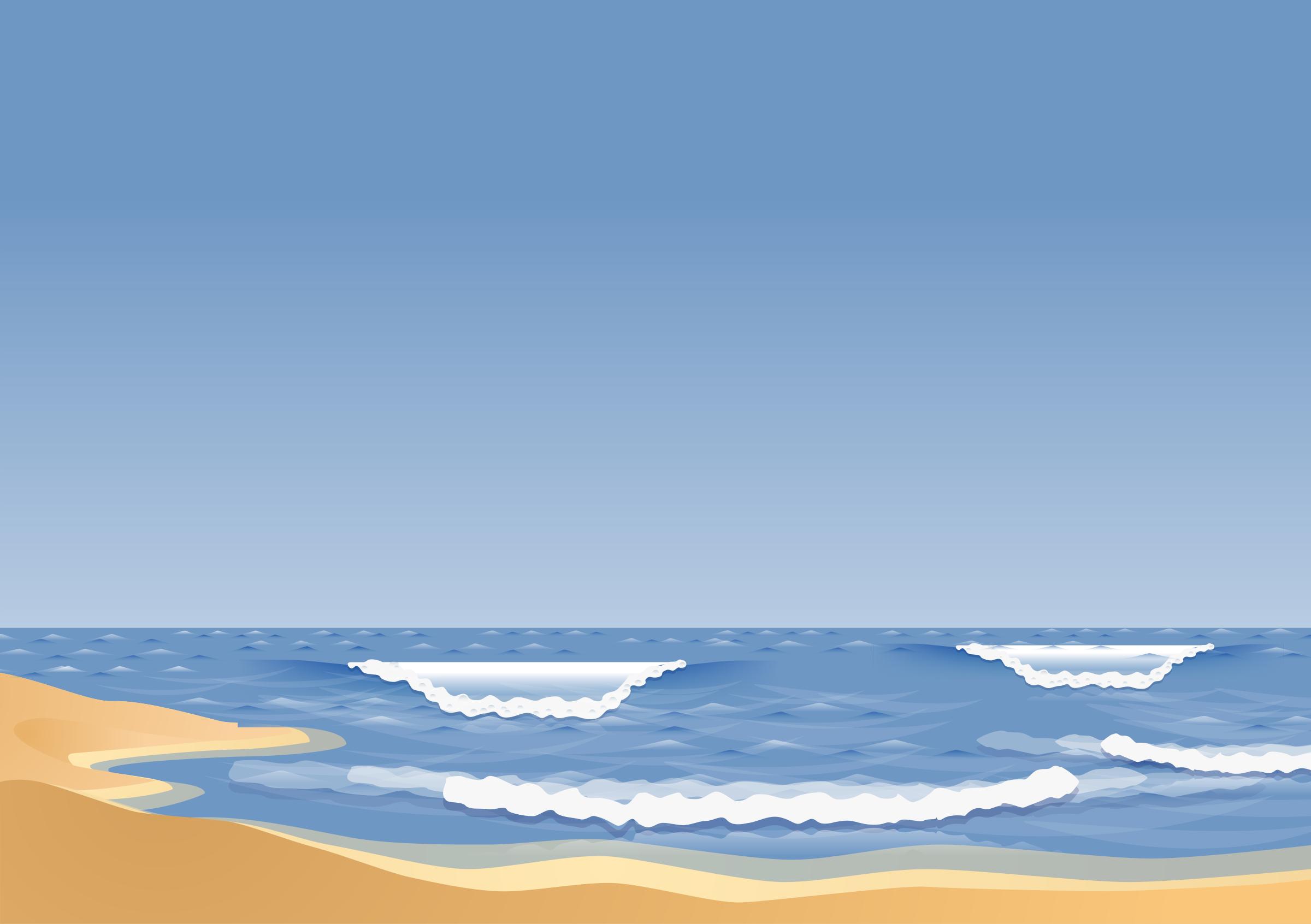 Wave beach. Sandy with waves vector