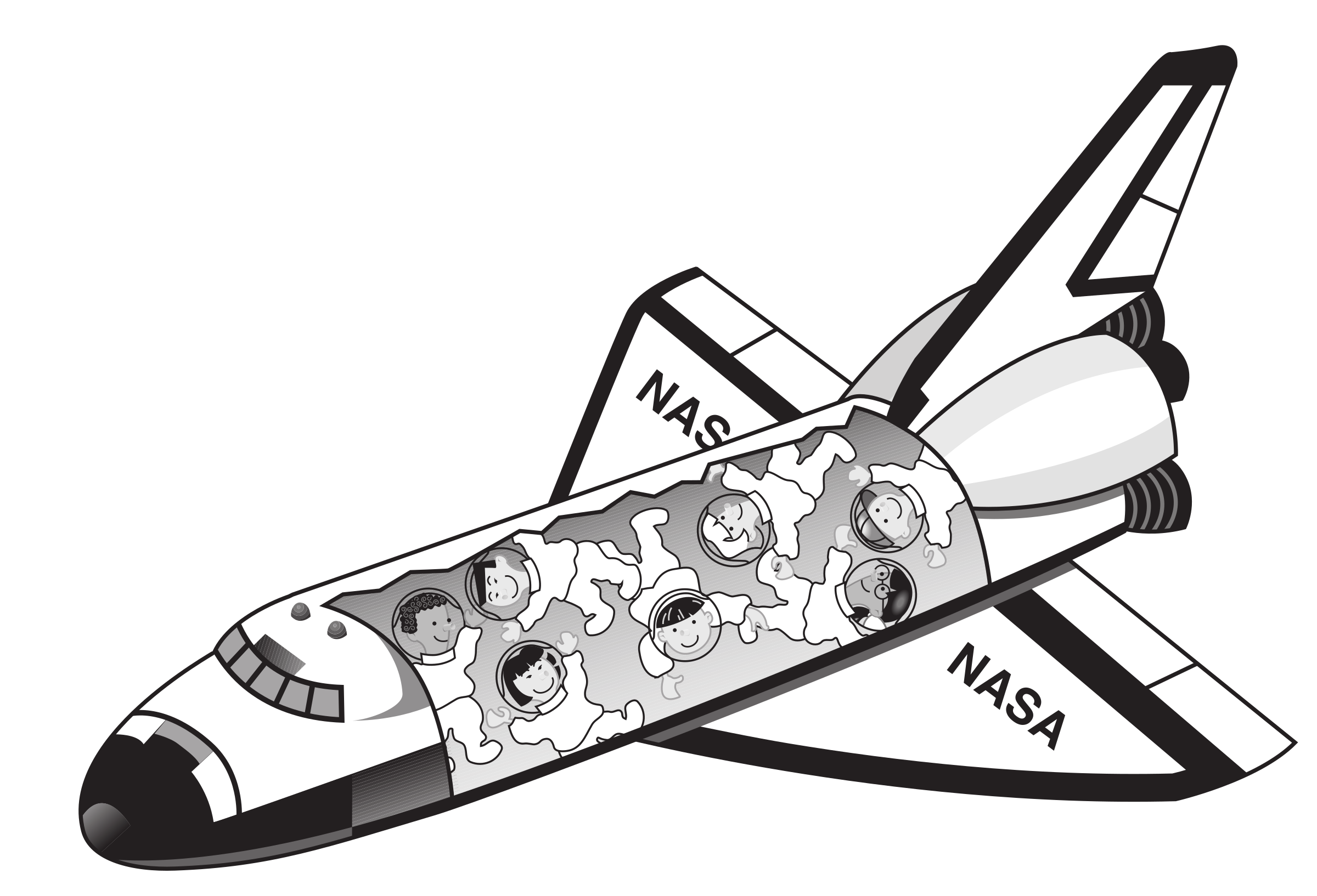 space shuttle spaceship vector clipart image free stock Resolution Clip Art High Resolution Borders