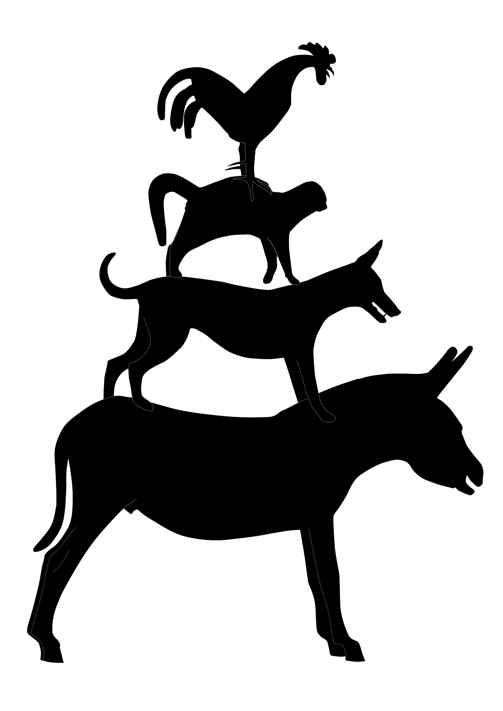 the musicians of bremen silhouette vector clipart image free stock