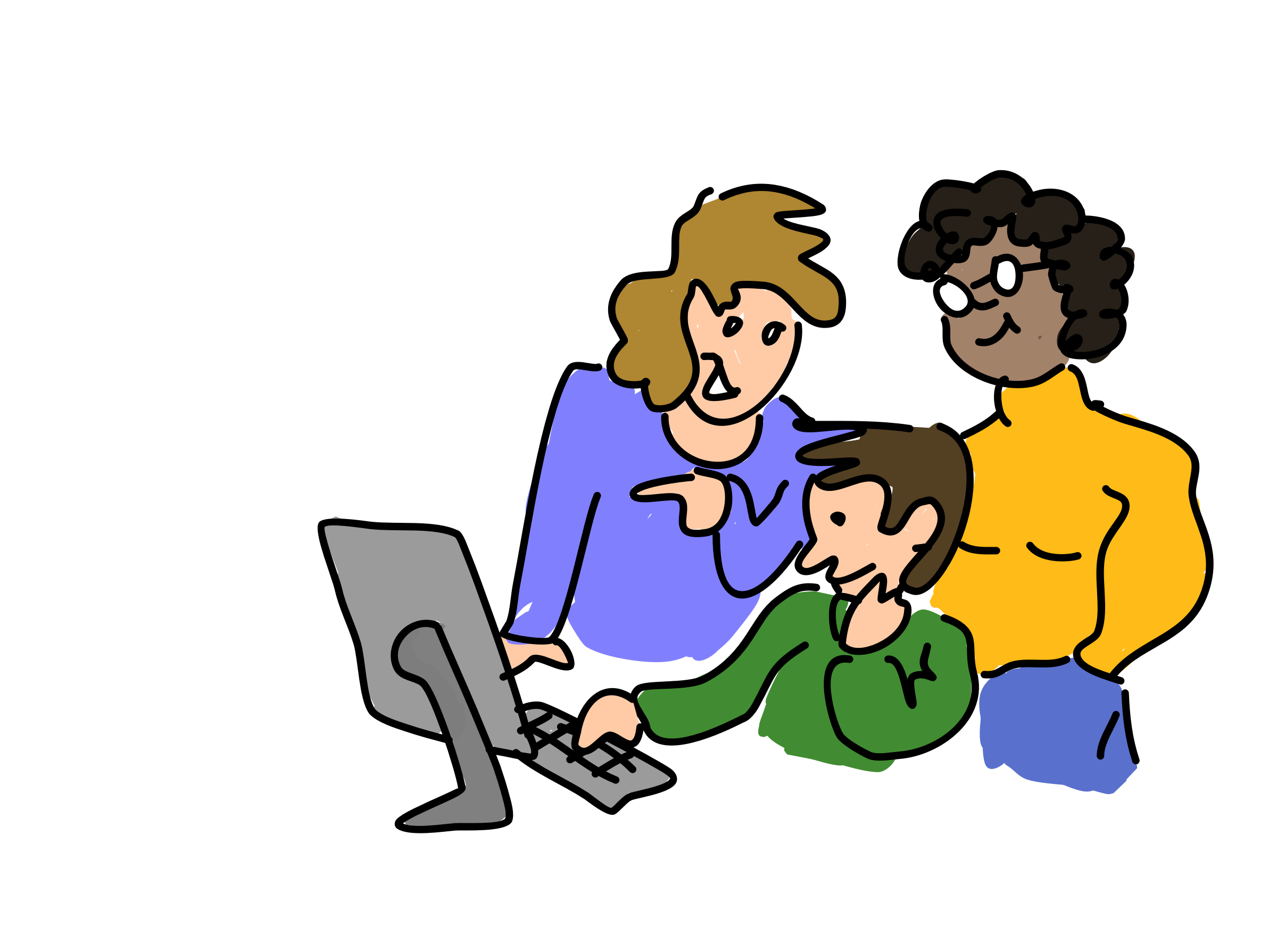 three people working together vector clipart image free stock rh goodfreephotos com teachers working together clipart group working together clipart