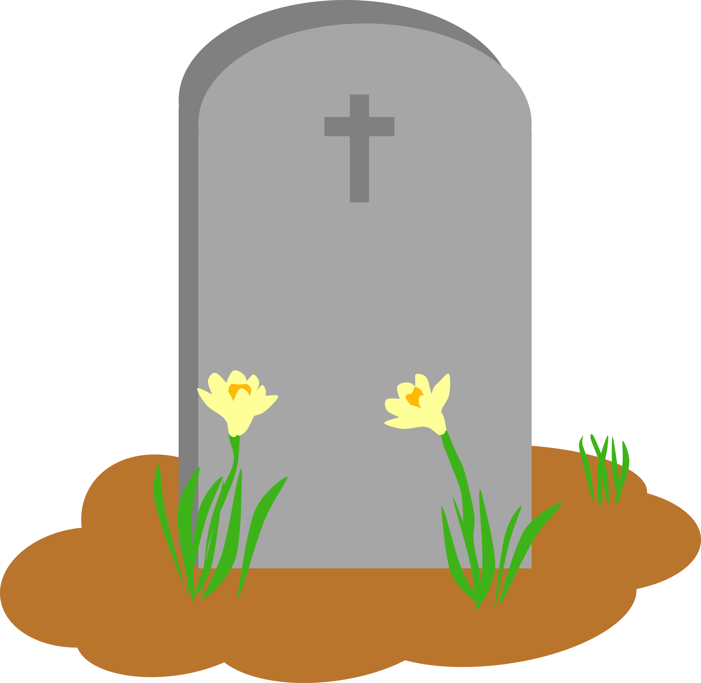 Tombstone and Grave Vector art image - Free stock photo ...