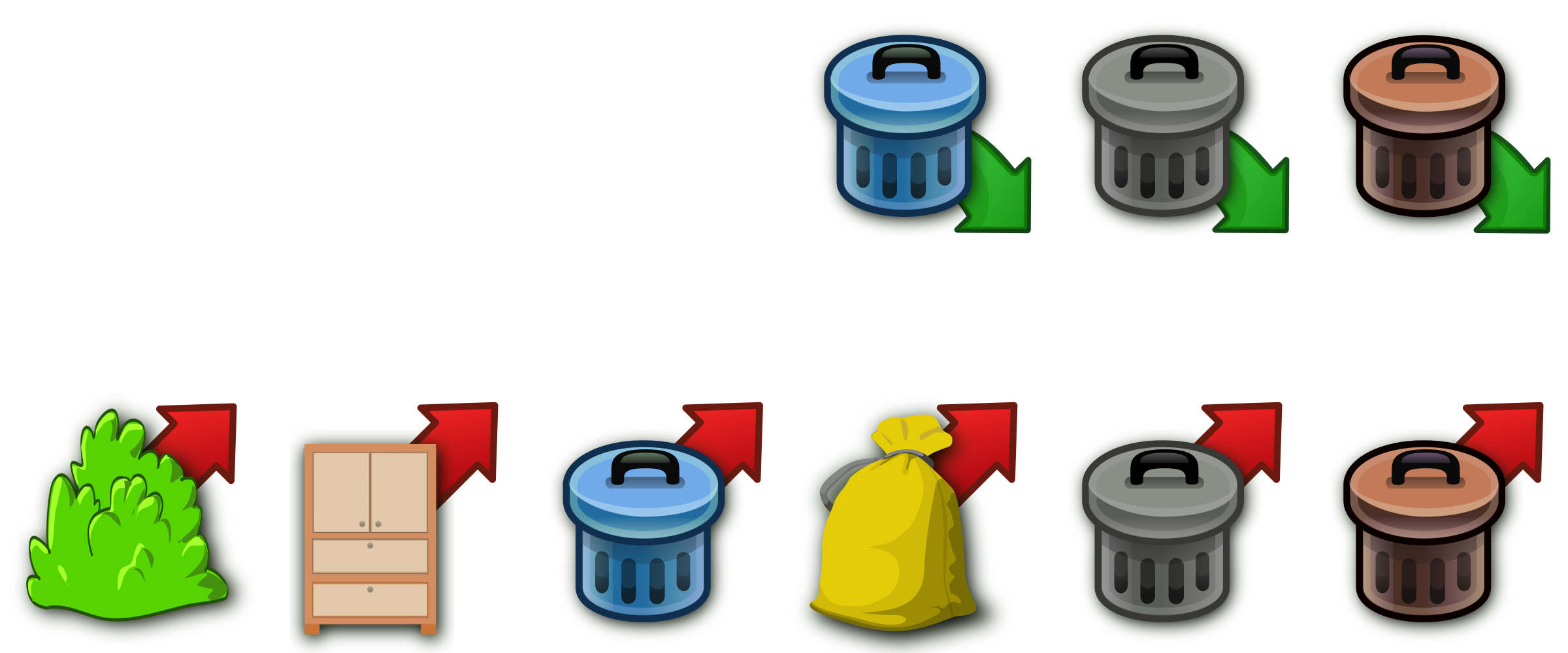 Trash Can Icons Vector Clipart Icon image - Free stock ...