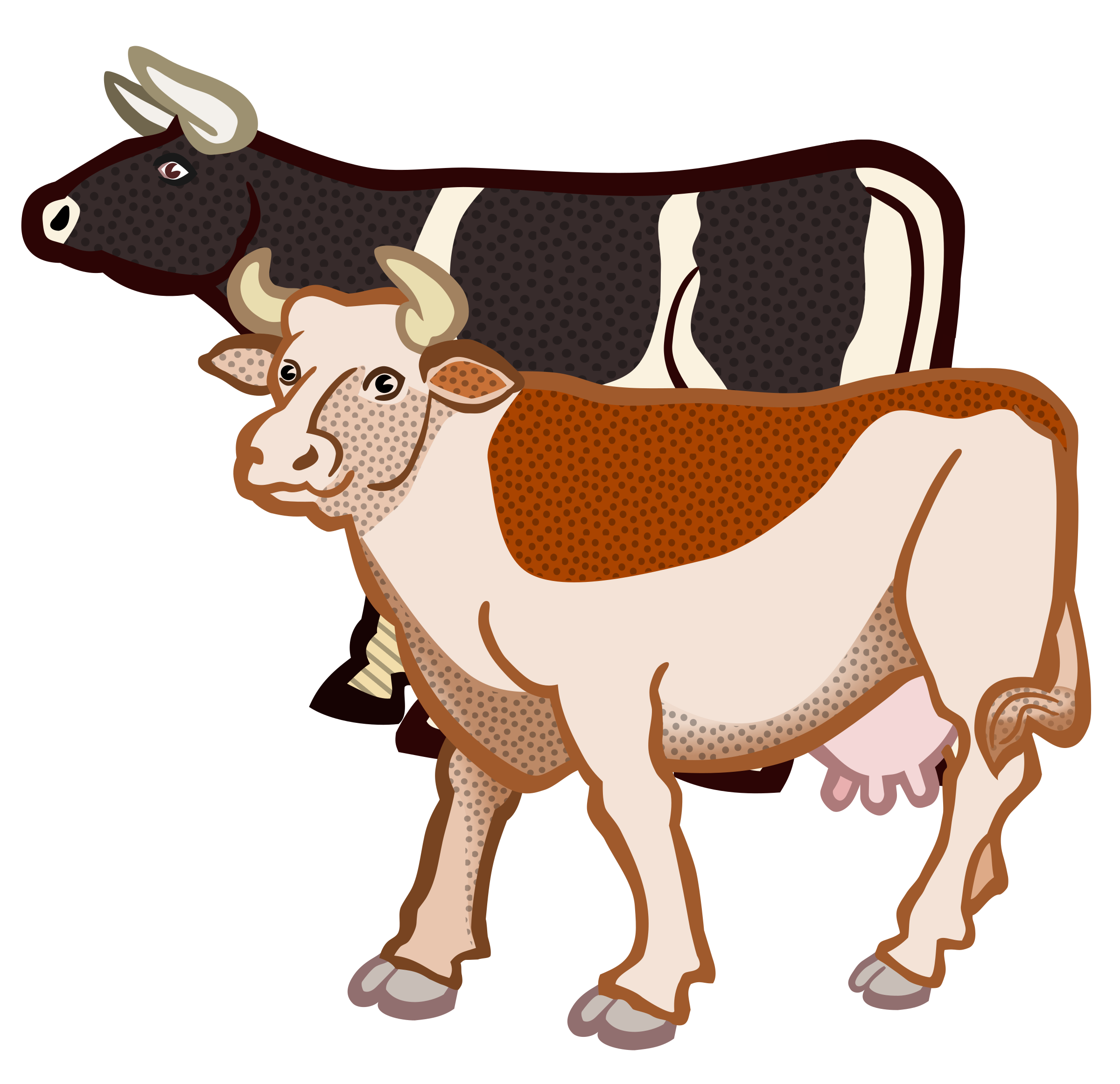 Two Cows Vector graphics image - Free stock photo - Public ...