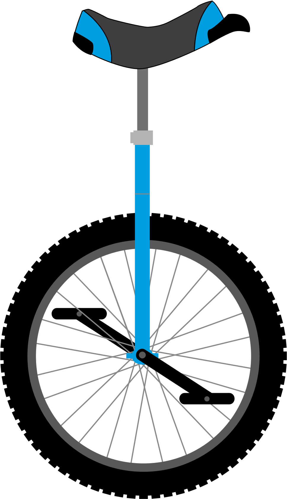 Unicycle vector clipart image - Free stock photo - Public ...