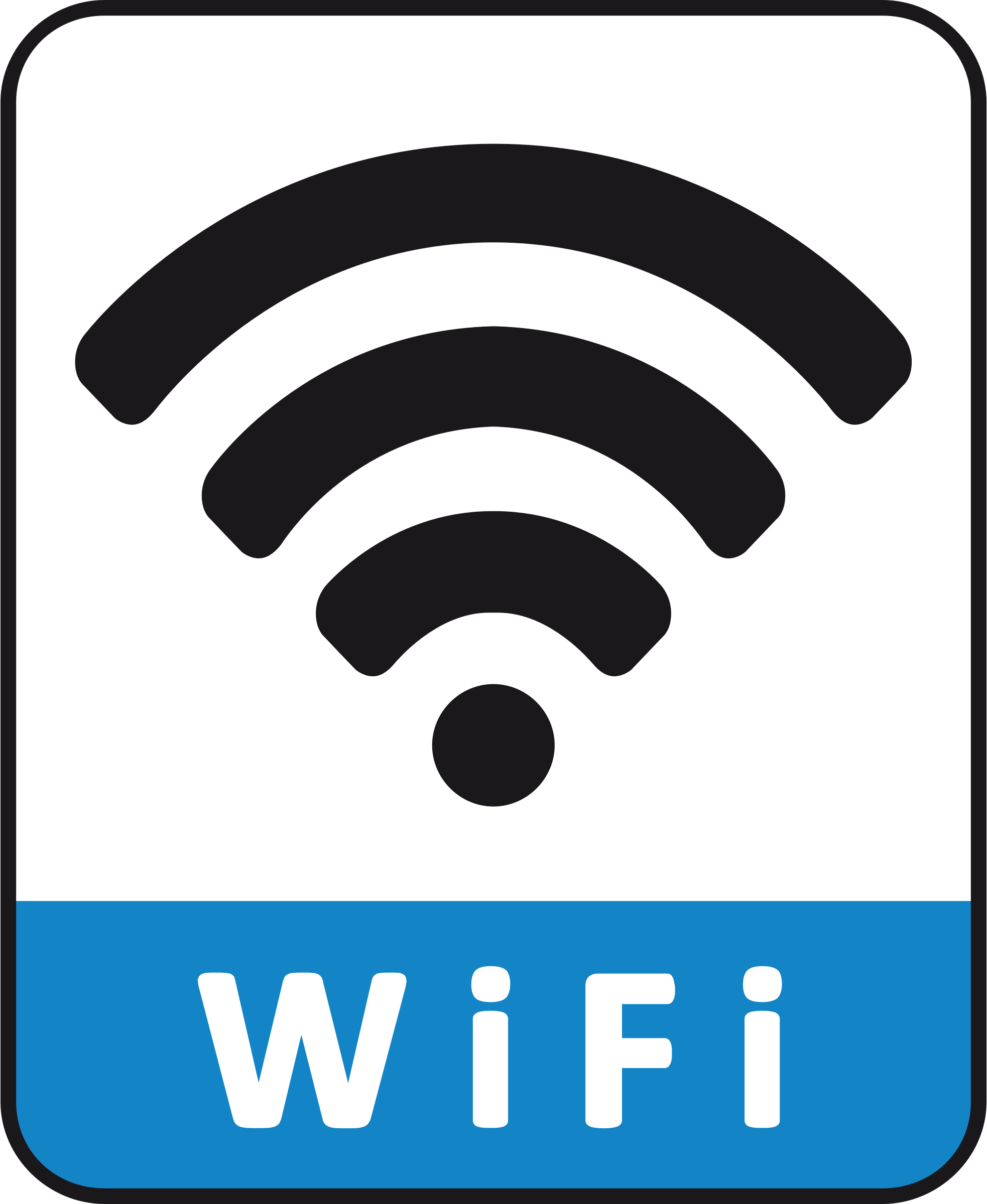 Wifi connection symbol vector file image - Free stock ...