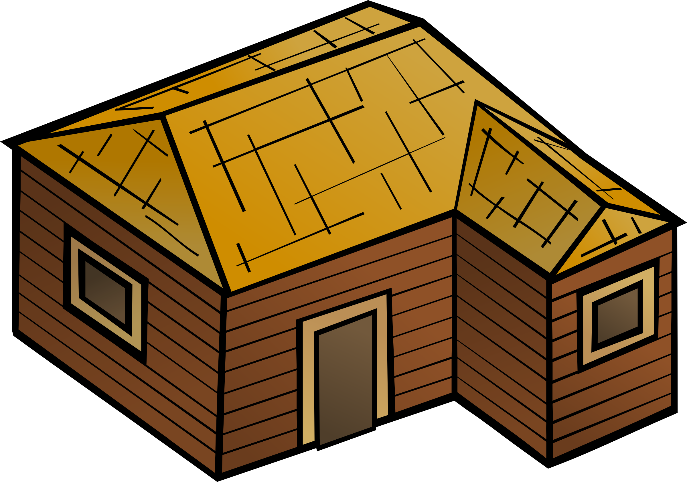 clipart wooden clip vector hut cabin domain transparent dwellings houses library svg shack cliparts clipartmag clipground log rights personal onlinelabels