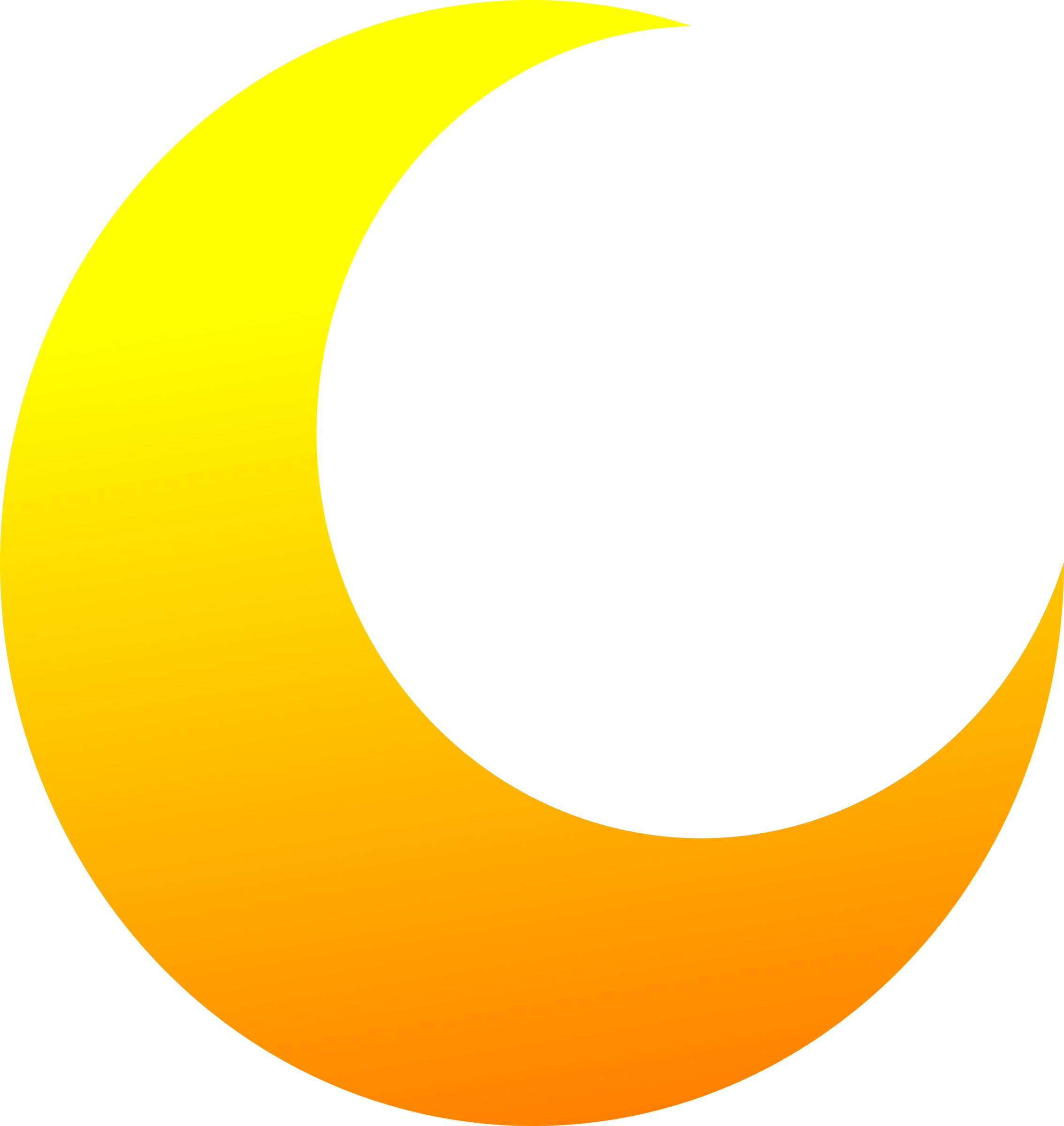 yellow crescent half moon vector clipart image free stock photo rh goodfreephotos com clip art moon phases clip art moon face