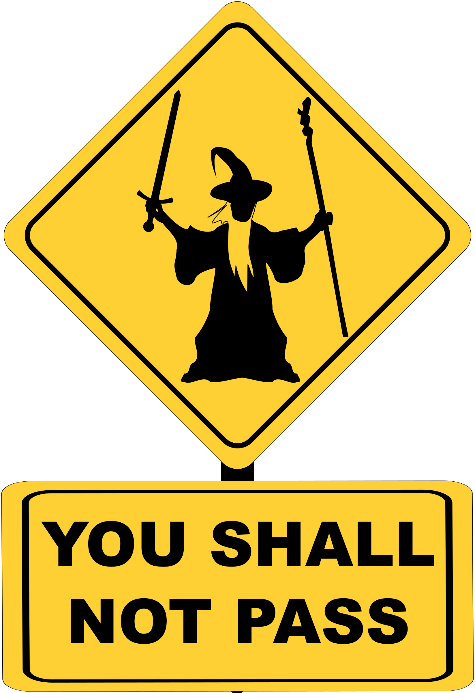 You Shall Not Pass Sign with Gandalf vector clipart - Free Public ...