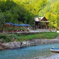 Park and scenes by the river in Albania