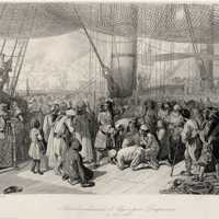 Abraham Duquesne delivering Christian Captives in Algiers in 1683