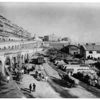 Algiers depot and station grounds of Algerian Railway in 1894