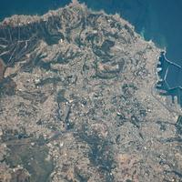 Astronautical view of Algiers, Algeria