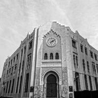 Building Architecture and Clock tower in Algiers, Algeria