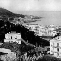 City and harbour of Algiers in Algeria