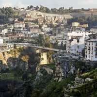 Cityscape with buildings in constantine, Algeria