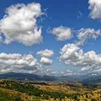 Clouds in the sky over the Algerian Landscape