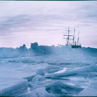 Ships on the Ice in Antarctica