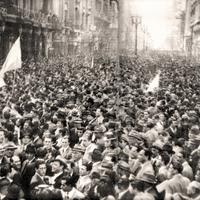 March for Constitution and Freedom in 1976 in Buenos Aires, Argentina