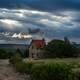 Heavy Clouds over a country house in Argentina