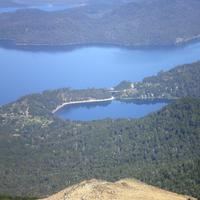 Lago Correntoso lake landscape in Nahuel Huapi National Park, Argentina