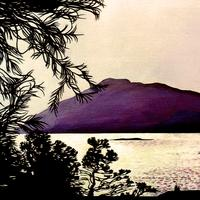 High Island Reservoir acrylic Painting