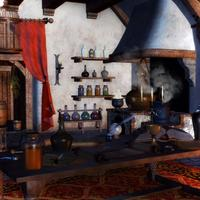 Study and potions room in Wizard's House