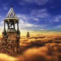 Towers and Castle in the Clouds