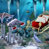 Underwater Sleigh Pulled by Sea Creatures