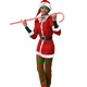 Woman with Candy Cane 3d Model