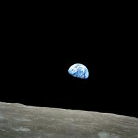 Earthrise from the Surface of the moon
