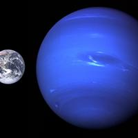 Neptune Size Comparison with Earth
