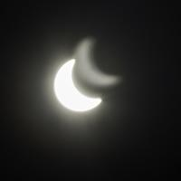 Partial Eclipse with reflection on August 21, 2017