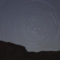 Star Trails Spinning at night