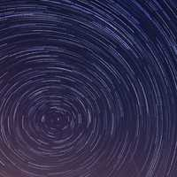 Star Trails Spinning in the sky