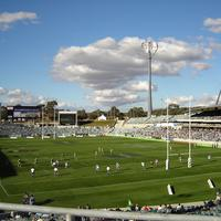 A rugby league match at Canberra Stadium in New South Wales, Australia