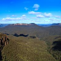 Blue Mountains Landscape in Kamtoomba, New South Wales, Australia