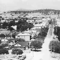Overlooking Albury from Monument Hill in the 1920s in New South Wales, Australia