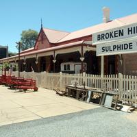 Sulphide Street railway station in Broken Hill, New South Wales, Australia