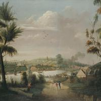 A Direct North General View of Sydney Cove, 1794 in New South Wales, Australia
