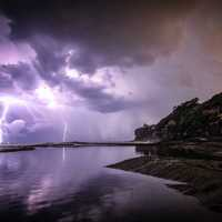 Lightning Storm from the Clouds in Dee Why, New South Wales, Australia