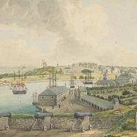 Sydney Cove from Dawes Point in 1817, New South Wales, Australia
