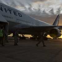 US Marines getting off the plane in Darwin, Australia.